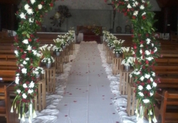 Aisle Decor - Golden Star Flower Shop - Wedding Decorator in Davao