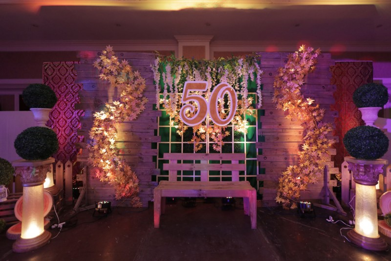 Jocelyn @ 50 - Golden Star Flower Shop - Wedding Decorator in Davao