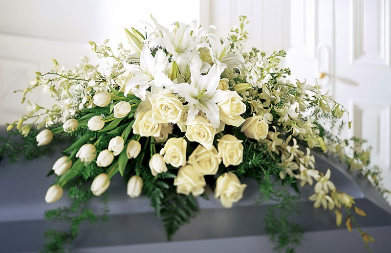 Sympathy / Funeral Bouquet - Golden Star Flower Shop - Wedding Decorator in Davao